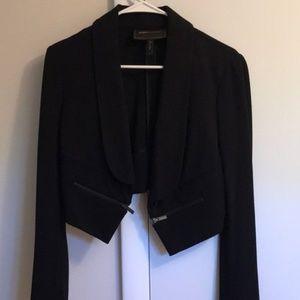 Like NEW BCBGMAXAZRIA Black crop blazer